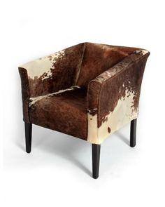 Cowhide chair, simply elegant!
