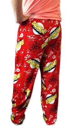 I *so* want these! ThinkGeek :: Bazinga! Pajama Bottoms