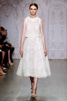 9 Wedding Dress Trends For Anti-Princess Brides #refinery29  http://www.refinery29.com/alternative-wedding-dress-trends#slide9  The Two Is Better Than One Bride You're the very practical kind of bride, and certainly not the one who buys a dress for one purpose only. The two-piece ensemble, like Monique Lhuillier's romantic lace set, is ladylike and party-ready but can also be broken apart. Wear the full set to walk down the aisle (or to City Hall) and break it up on the special nights to ...
