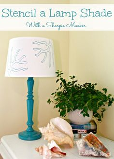 Stencil a Lamp Shade With a Sharpie Marker
