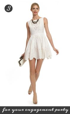 A cute, flirty dress by Opening Ceremony for the playful bride at her engagement party! Get it from Rent the Runway for only 75 dollars: http://www.renttherunway.com/shop/designers/openingceremony_dresses/againstplaygroundrulesdress