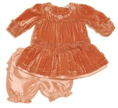 Le top Twinkle Baby Girl's Velvet Dress Set 24M at Adorable Baby Clothing