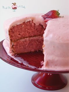 Strawberry Cake with strawberry/cream cheese frosting