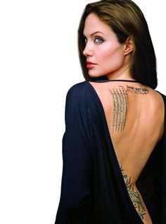 angelina jolie tattoos - angelina jolie tattoo designs