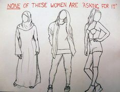 NONE of these women are asking for it.