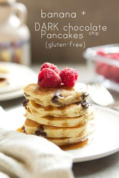 Gluten-free Banana Chocolate Chip Pancakes on www.withstyleandgraceblog.com