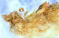 Fox spirits by rokkihurtta.deviantart.com