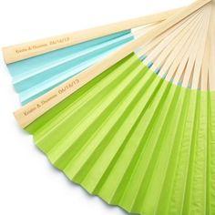 personalized paper fan