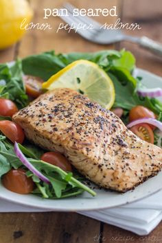 Pan Seared Lemon Pepper Salmon Recipe by @Alyssa {The Recipe Critic}
