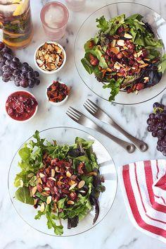 Bacon Roasted Grape Salad (gluten-free + dairy-free) / Tasty Yummies