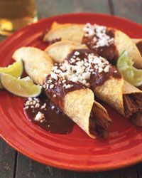 Meat Tacos with Mole Sauce