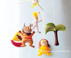 Story Mobile-Where the wild things are No.1 nurseri, stori mobilewher
