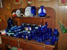 Love the colbalt blue glass!!