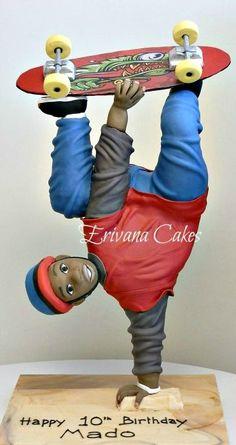 Skateboarder Cake