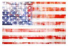 AMERICAN FLAG CANVAS