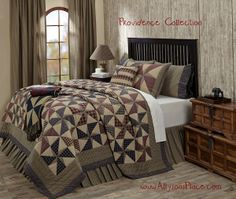 Providence Quilt Collection/ Like us on Facebook!  https://www.facebook.com/AllysonsPlaceDecor / #Primitive #country #Cabin