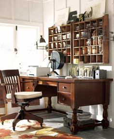 Rustic home office.....