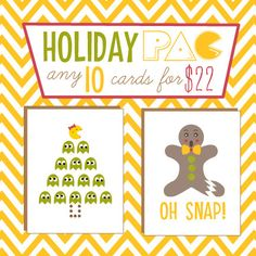 """Holiday """"PAC"""" any 10 cards for $22"""