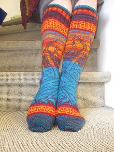 amazing hand-knit socks! Wow!