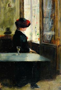 Fernand de Launay, Waiting at the Cafe, 19th century