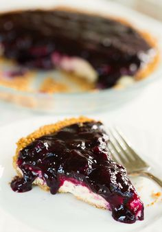 blueberry cheesecake pie. brown eyed baker.