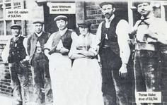 """Caption: """"A group of boatmen outside the Six Bells Inn at Brentford in 1905."""" #london #canal #pub #boatmen #brentford #middlesex #six #bells #fmc #barge #narrowboat"""