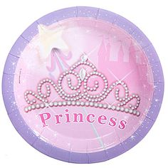 Our Pretty #Princess Dessert Plates! Each package contains eight plates.
