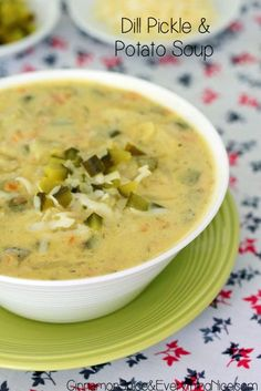 Dill Pickle and Potato Soup