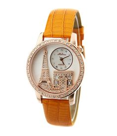 New Leather Strap Eiffel Tower Style Women's Fashion Watch