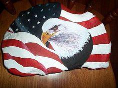 Eagle/flag rock