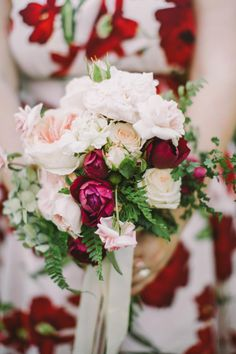 The Bride Wears Red for A Bold and Beautiful Vintage Inspired Wedding with Flair from Lara Hotz Photography