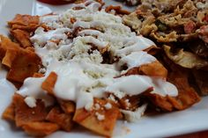 Red Chilaquiles  recipe  I  Chilaquiles are traditional Mexican dish commonly served for breakfast.  #BreakfastandBrunch