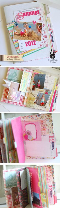 DIY Mini Book by Betsy Veldman for Fancy Pants Designs