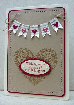 card design: Stampin' Up! Valentine