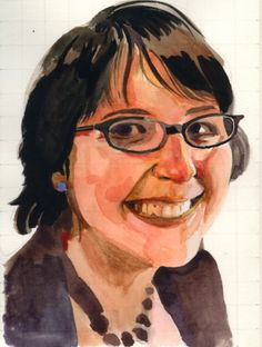 Watercolor portrait tutorial