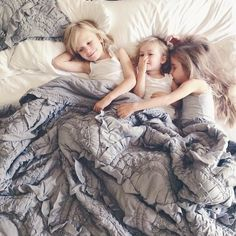 I miss these days...Saturday morning little ones piling in our bed.