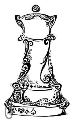 Queen Chess piece tattoo...yes I am a nerd!