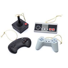 Classic Video Game Controller Ornament Set... Shut up and take my $$