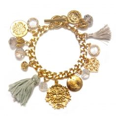 tassels and charms bracelet // campwell