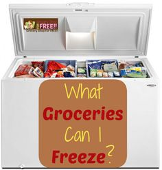 What Groceries Can I Freeze? - Grocery Shop For FREE!!
