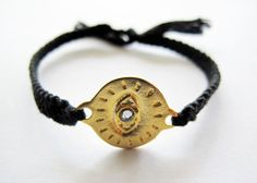 Insight Friendship Bracelet Onyx Black by NinaMantra on Etsy, $24.00