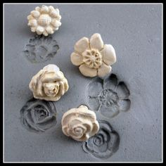 Ceramic Stamps, Clay pottery Stamps,  Bisque Stamps, Handcarved Stamps, SALE 16.00 NOW 10.00( 0014)