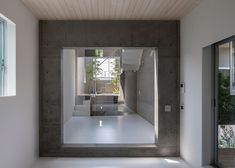 Gardens are interspersed with rooms inside this Japanese house.