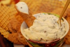 """::Canoli Dip:: One of my favorite recipes that I always make for Christmas Eve with my husband's family & for any FRG event that necessitates desserts. I serve it with those cinnamon """"Scooby Snacks"""" or gingerbread pita chips. GO TO AN ITALIAN DELI AND GET REAL RICOTTA IF YOU CAN! DON'T BE LAZY! haha That is all."""