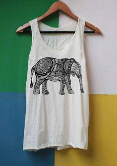 Elephant Shirt Aztec Shirts Tank Top TShirt Top Softly Women – size S M L on Etsy, $14.99