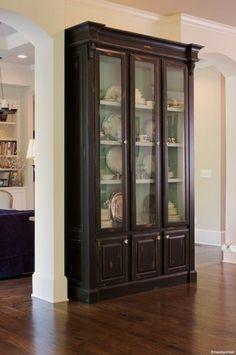 paint ideas, china cabinets, kitchen idea, new homes, hous idea, home kitchens, china closet, atlanta, decor idea