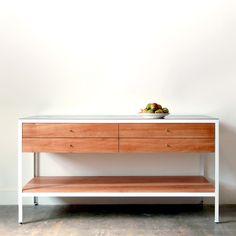 CHADHAUS - Chadhaus Handmade Modern Solid Wood and Steel Farmhouse Modern Sideboard - Made in Seattle, USA