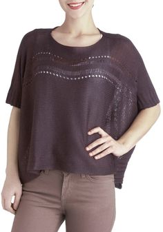 Eggplant of Action Top, #ModCloth