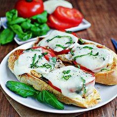 open face chicken caprese sandwich