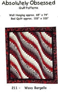 Wavy Bargello Quilt Pattern ONLY.  LOVE LOVE LOVE this!!